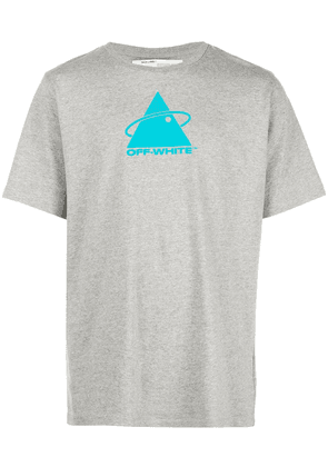 Off-White triangle planet logo T-shirt - Grey