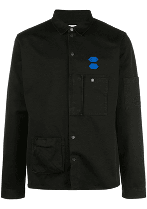 Off-White cotton snap buttoned shirt - Black