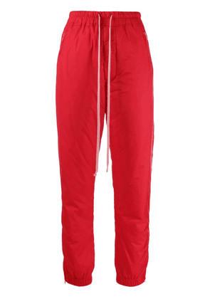 Rick Owens padded track trousers - Red