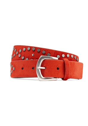 Isabel Marant - Kolee Embellished Calf Hair Belt - Bright orange
