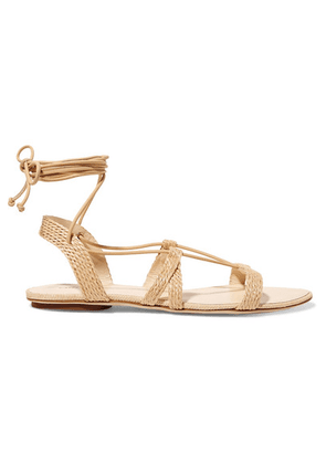 Cult Gaia - Sienna Woven Raffia And Leather Sandals - IT35.5
