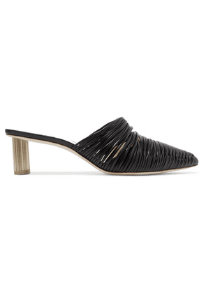 Cult Gaia - Sage Leather Mules - Black