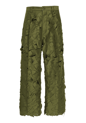 Marni Distressed Relaxed Fit Trousers