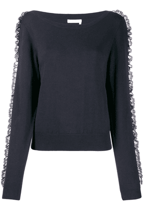 Roundneck Tee With Ruches
