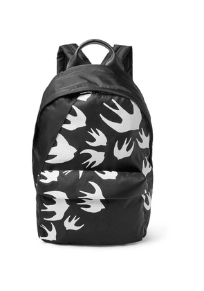McQ Alexander McQueen - Leather-trimmed Printed Shell Backpack - Black