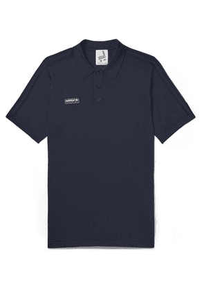 adidas Consortium - Spezial Slim-fit Knitted Polo Shirt - Storm blue
