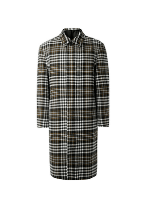 AMI - Oversized Checked Wool-blend Coat - Gray
