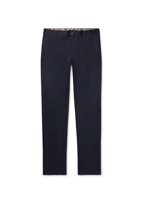 Burberry - Slim-fit Cotton-twill Chinos - Navy