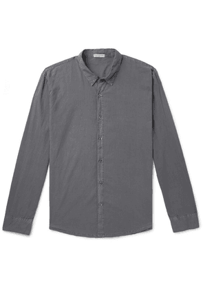 James Perse - Garment-dyed Cotton Shirt - Anthracite