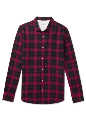 Officine Generale - Checked Cotton-blend Shirt - Red