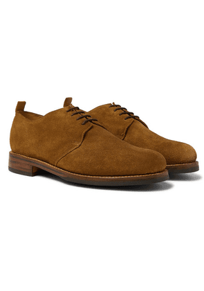Grenson - Wade Suede Derby Shoes - Brown