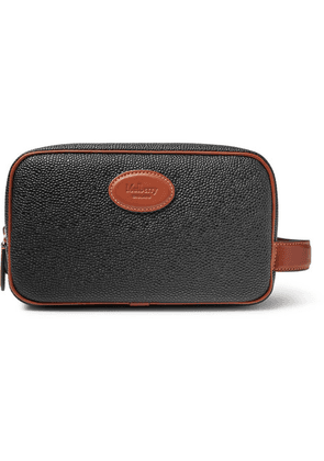 Mulberry - Leather-trimmed Scotchgrain Wash Bag - Black