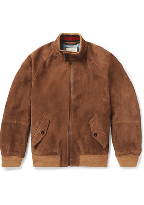 Gucci - Suede Bomber Jacket - Tan