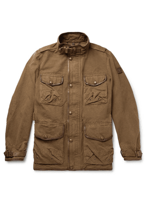 Belstaff - Leather-trimmed Cotton-canvas Field Jacket - Brown