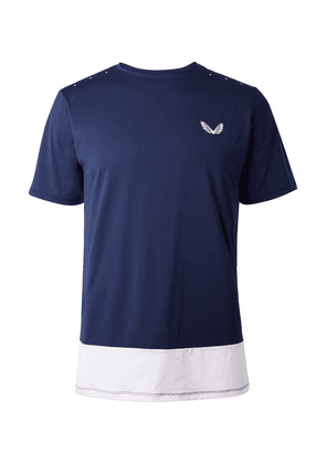 CASTORE - Samuel Colour-block Stretch-mesh T-shirt - Navy