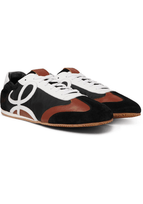Loewe - Leather And Suede-trimmed Nylon Sneakers - Black