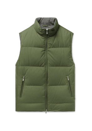 Brunello Cucinelli - Quilted Nylon Down Gilet - Green