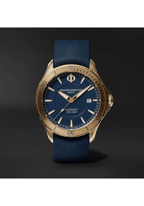 Baume & Mercier - Clifton Club 42mm Automatic Bronze And Rubber Watch - Blue