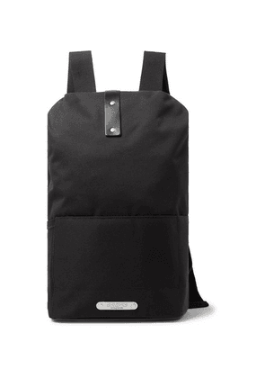 Brooks England - Dalston Medium Leather-trimmed Canvas Backpack - Black