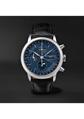 Baume & Mercier - Classima Automatic Flyback Chronograph 42mm Stainless Steel And Alligator Watch - Blue