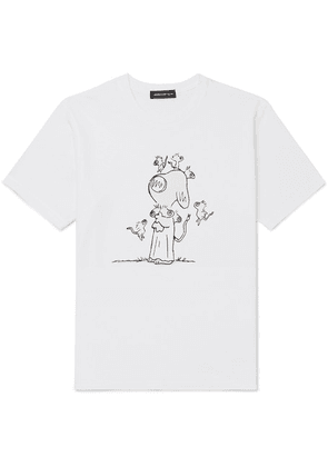 Undercover - Printed Cotton-jersey T-shirt - White