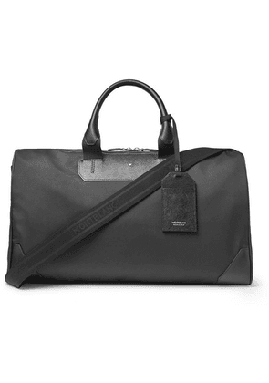 Montblanc - Sartorial Jet Cross-grain Leather-trimmed Shell Duffle Bag - Black