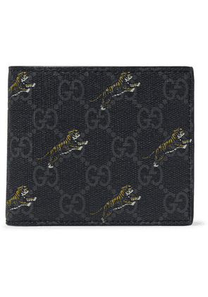 Gucci - Monogrammed Coated-canvas Billfold Wallet - Charcoal