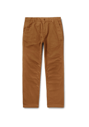 Norse Projects - Josef Striped Herringbone Cotton Trousers - Brown
