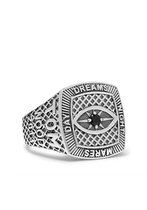 Tom Wood - Champion Sterling Silver Crystal Ring - Silver