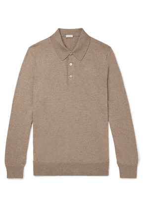 Caruso - Cotton And Wool-blend Polo Shirt - Taupe