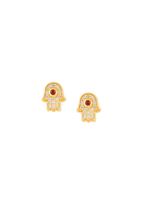 Astley Clarke 'Mini Hamsa Biography' stud earrings - Metallic