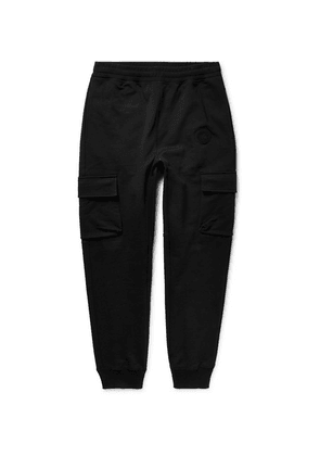 Burberry - Tapered Loopback Cotton-jersey Cargo Sweatpants - Black