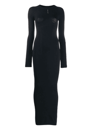 Unravel Project long sleeved dress - Black
