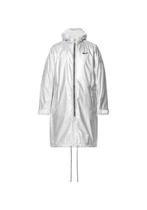 Nike - + Fear Of God Nrg Ti Oversized Sherpa-lined Textured-nylon Hooded Parka - Silver