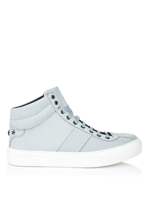 BELGRAVIA Seafoam Point Embossed Nubuck High Top Trainers with Gunmetal Stars