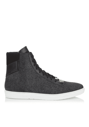 BRUNO Smoky Blue Glitter Dust Leather High Top Trainers