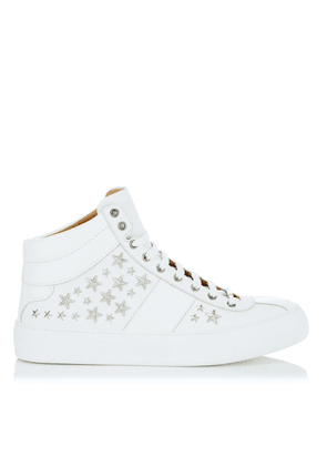 BELGRAVIA White Nappa Sneakers with Silver Stars
