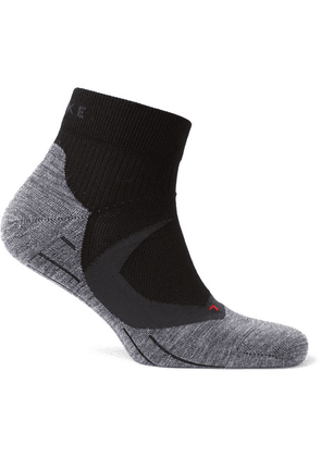 FALKE Ergonomic Sport System - Ru4 Cool Stretch-knit Socks - Black