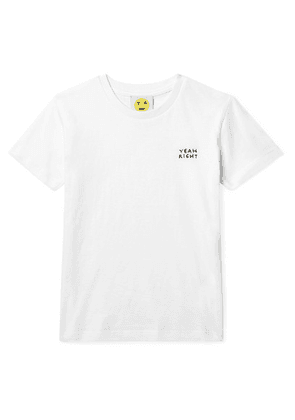 Yeah Right NYC Kids - Ages 3 - 12 Yeah Right Embroidered Organic Cotton-jersey T-shirt