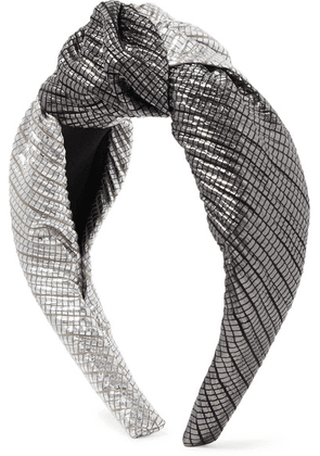 Eugenia Kim - Maryn Knotted Two-tone Lamé Headband - Silver