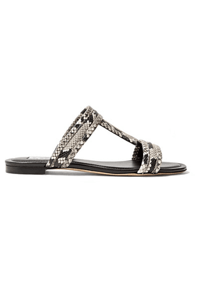 Tod's - Snake-effect Leather Slides - Snake print