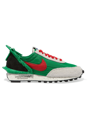 Nike - + Undercover Daybreak Leather-trimmed Shell And Suede Sneakers - Green
