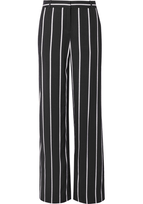 Equipment - Arwen Striped Twill Wide-leg Pants - Black