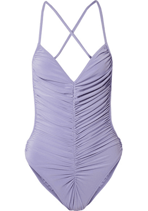 Norma Kamali - Butterfly Mio Ruched Swimsuit - Violet