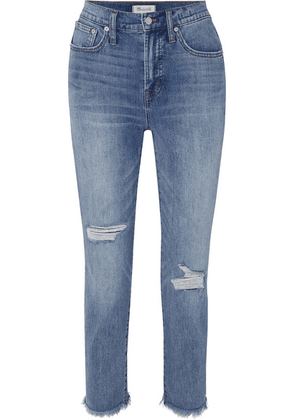 Madewell - The Perfect Vintage High-rise Straight-leg Jeans - Mid denim