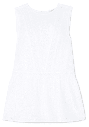 MICHAEL Michael Kors - Crocheted Cotton-blend Peplum Top - White