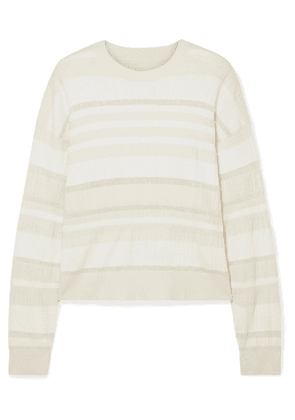 Proenza Schouler - Striped Ribbed-knit Sweater - White