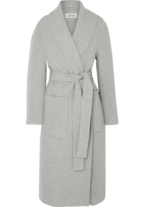 Loewe - Belted Cashmere Coat - Gray