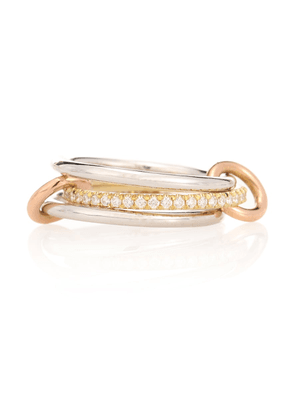 Sonny MX 18kt white, yellow and rose gold diamond ring