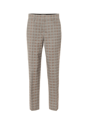 Mid-rise wool-blend straight pants